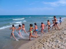 Пляж в детском лагере Морские Дюны