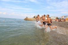 Пляж в детском лагере АРТ-КВЕСТ