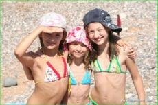 Пляж в детском лагере Мандарин